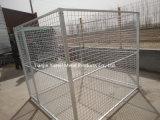 Псарня собаки или клетка собаки для сбывания/Stackable сложенной гальванизированной сваренной сталью клетки хранения