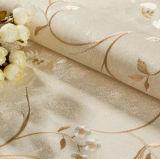 방습 이음새가 없는 고전적인 호화스러운 돋을새김 꽃 벽지 직물 거실