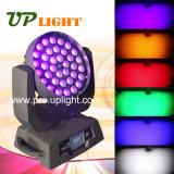 Iluminação movente do estágio do diodo emissor de luz da lavagem do zoom da cabeça 36*18W 6in1 do diodo emissor de luz