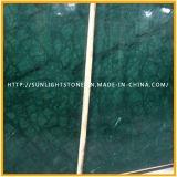 Material de construção polido Índia Verde Guatemala / Mármore verde-nevado para lajes ou telhas à venda