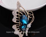 De Speld van de Broche van het Kristal van de Bergkristallen van Oostenrijk van de Broche van de Vlinder van Montana (Vlinder tb-022)
