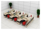 Poste de travail en gros de partition de bureau pour le poste de travail de personnel administratif de 6 Seater (HF-YZQ516)