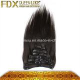 우수한 질 브라질 Sigle 머리 검정 &Blonde 색깔클립 에서 제공 머리 바디 파