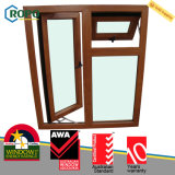 Indicador de vidro do Casement dobro plástico da cor UPVC/PVC do Woodgrain