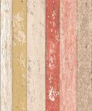 Papier de mur lavable de vinyle de modèle en bois à la maison de décoration