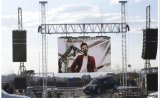 P8 braguero al aire libre pantalla LED Video Wall en Alquiler
