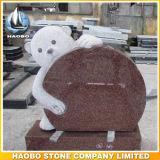 Grafsteen van de Teddybeer van het Graniet van de lage Prijs de Blauwe