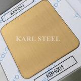 201 van het roestvrij staal Gouden van de Kleur Hairline Kbh001- Blad