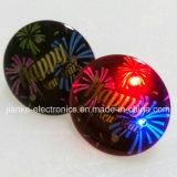 Fábrica al por mayor LED parpadeante Insignas baratos con logotipo impreso (3569)
