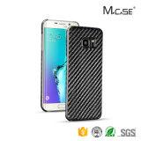 2016 Mcase Nueva caja de la fibra de carbono teléfono de la llegada para Samsung S7 Edge