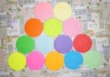 бумага Origami цвета 70GSM круглая складывая бумажная DIY