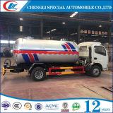 Dongfeng 6 바퀴 5cbm LPG 도로 유조 트럭