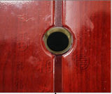 Cámara de puerta sin hilos 5.8GHz CCTV mini (diámetro de 13.8mm, latón, tamaño del peephole de la puerta, 24chs, gama que transmite de 100m)