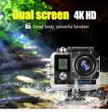 4kはカメラ防水と小型スクリーンのWiFiのヘルメットのスポーツの二倍になる