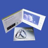 7 '' карточек LCD видео-/видео- брошюра для венчания дела