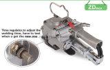Máquina de colocação de correias pneumática para a máquina automática da ferramenta da embalagem da mão da cinta de PP/Pet (XQD-19)