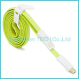 Câble plat micro de chargeur des caractéristiques USB2.0 5pin pour le téléphone androïde