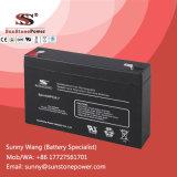 Bateria AGM grátis para manutenção CCV de 6V 7ah para sistema CCTV