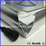 Sinal da caixa leve para anunciar o indicador com frame de retrato de alumínio