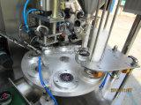 Tipo giratório enchimento do copo da água mineral e máquina da selagem