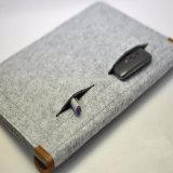 Saco clássico por atacado do portátil do saco do portátil de Meterail de feltro de lãs
