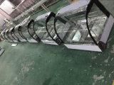 Visualizzazione dell'acciaio inossidabile della vetrina dello scaldavivande con la vetrina di riscaldamento di vetro curva con 2-Pans