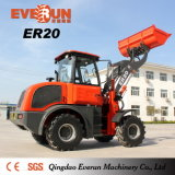 Log Grapple를 가진 2 톤 1 Cbm Bucket Shovel Loader