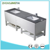 Double moderne Sink Bathroom Vanity avec Tempered Quartz Countertop