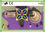 子供の計画公園または遊園地のための星の小型屋外の花の運動場装置