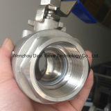 Robinet à tournant sphérique de l'amorçage 2PC d'acier inoxydable de solides totaux