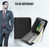Бумажник кожи способа портмона бумажника неподдельной кожи фабрики изготовленный на заказ Bifold