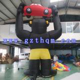 Modèle gonflable de dessin animé de gorille de large échelle