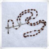 Шарики Brown нового типа овальные молят Rosaries, деревянный Rosary (IO-cr008)
