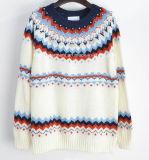 Lavorato a maglia intorno ai vestiti lunghi di modo delle donne del manicotto del collo (16-300)