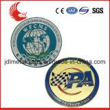 Kundenspezifische personifizierte werfende Decklack-Metallgoldmünzen