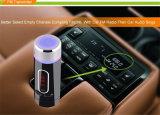 Support émetteur FM de chargeur de Bluetooth de véhicule d'émetteur d'émission de FM mains libres et carte de FT (FM28B)