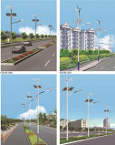 10-12 indicatore luminoso di via ibrido del vento solare LED di m.