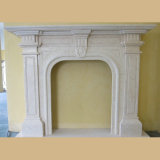 손 Carved  Marble  French  Fireplace  벽로선반