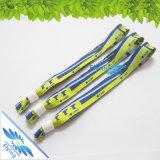 Soem-Zeichen-Drucken gesponnene Polyesterwristband-Armbänder