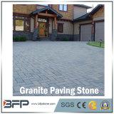 Piedra natural de pavimentación de granito negro para patio al aire libre, calzada, jardín, garaje