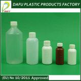 bottiglia bianca di plastica del PE liquido della medicina di figura rotonda 100ml