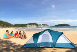 Le double a posé deux tentes de Hall des salles une, tente campante de 6 personnes