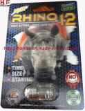 Píldora del reforzador del sexo del varón del titanio 6000 del rinoceronte 12