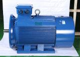Bon moteur électrique triphasé de refroidissement en aluminium du passage 132kw de condensateur