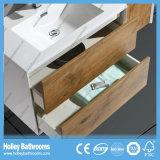 Le tiroir blanc et en bois moderne de Module de salle de bains sautent automatiquement vers le haut et le blanc (BF135M)