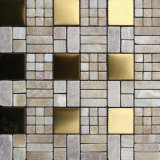 Gris Natural de mármol del mosaico de pared para TV y antecedentes (FYSMG116) Configuración