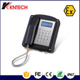 Telefono protetto contro le esplosioni di Koontech Knex-1 per uso di estrazione mineraria/il telefono della linea terrestre supporto della parete