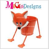 卸し売り金属プランター猫のクラフトの花プランター