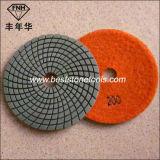 Almofada de polonês flexível molhada do diamante Wd-4