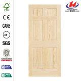 porta de madeira da laje do pinho 6-Panel